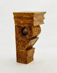 coluna madeira artesanal
