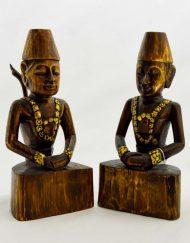 Escultura Indio em Madeira