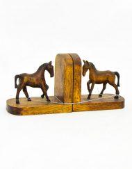 Suporte para Livros Cavalos em Madeira