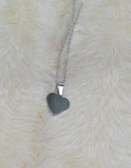 Colar Coração | Prateado