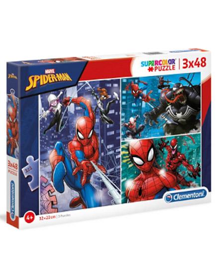 Puzzle Super 3x48 Spiderman - Clementoni