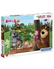 Puzzle Super 104 Pçs Masha e o Urso - Clementoni