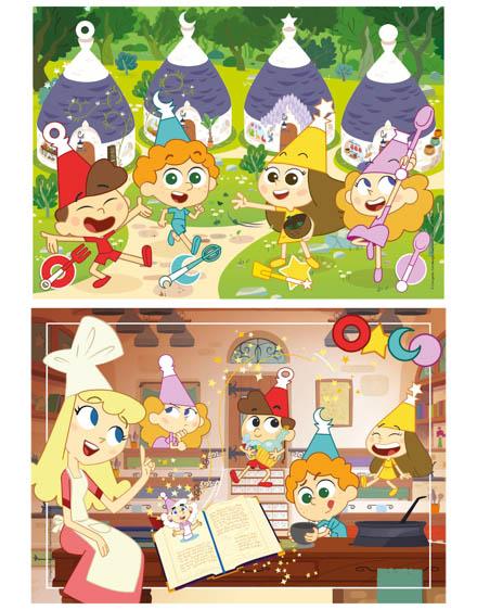 Puzzle Super 2x60 Trulli Tales - Clementoni