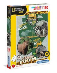 Puzzle National Geographic 180 Pçs Vida Selvagem - Clementoni