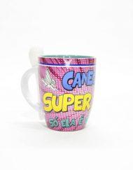 Caneca c/colher Super Mãe