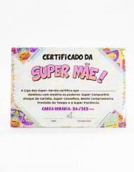 Certificado vidro Mãe