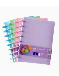 Caderno Inteligente Unikolor, A4 Cor Pastel
