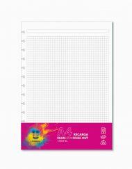 Recarga Caderno Inteligente Unikolor, A4 Quadriculado